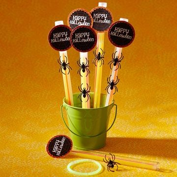 these spooky glow sticks are the ideal take home treat for a kids halloween party to make insert four glow sticks into plastic tubes with c - Glow Sticks For Halloween