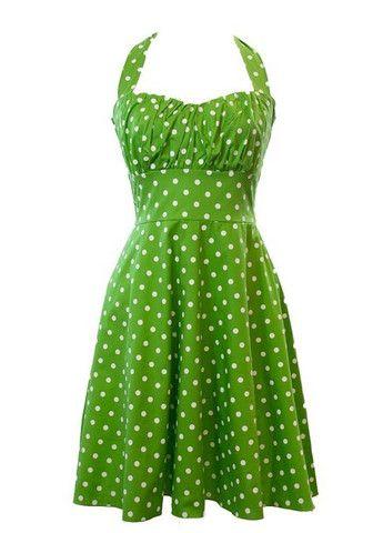 Palka Dot Green Vintage Dress