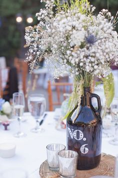 growler wedding centerpieces - Google Search                                                                                                                                                                                 More