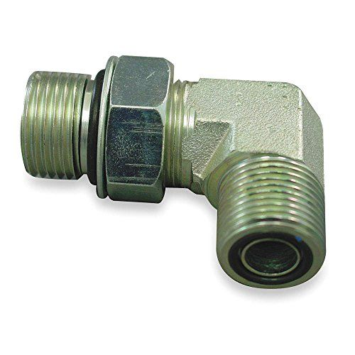 "Eaton Aeroquip FF1868T0808S Steel Tube Fitting, 90 Degree Elbow, 1/2"" Tube OD Face Seal Male x 1/2"" O-Ring Boss Male  Face seal male 90-degree elbow for connecting a tube to an O-ring boss female at a 90-degree angle  Male face seal threads on one end and male O-ring boss threads on the other end for connecting tubes with different ends  Steel for weldability and greater resistance to rust than iron  Buna-nitrile O-ring seals for strength and compatibility with a variety of fluids such..."