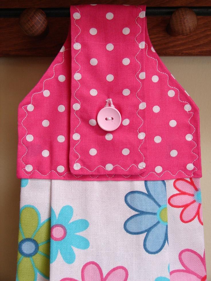 Spring Fling Hanging Kitchen Towel 6 00 Via Etsy