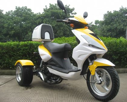 49cc scooters, 50cc scooters, 150cc scooters to 400cc Gas Scooters for sale , Street Legal Mopeds, Motorcycles, Go Karts, 4 Wheelers, Utility Vehicles, - Special: CMS 49cc College Cruiser Scooter | 3 Wheel Trike Moped - FREE SHIPPING for Sale