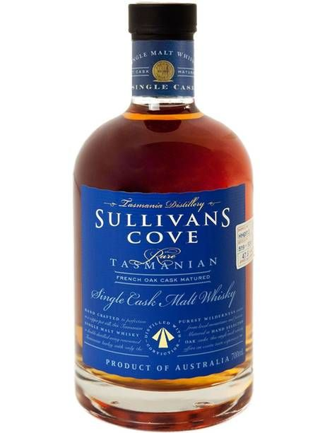 The winning bottle, aged from 11 to 12 years and described by Sullivans Cove as 'a big, fat, chewy whisky full of rich toffee and molasses notes'