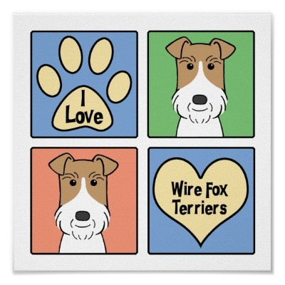 wire fox terrier print - Google Search