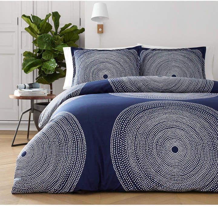 Marimekko Fokus Navy Bedding Collection Reviews Bedding Collections Bed Bath Macy S Duvet Cover Sets King Duvet Cover Sets Navy Bedding