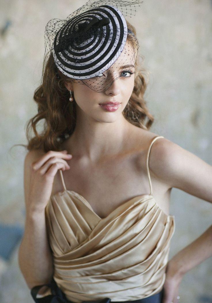 Best Wishes Headband   Modern Vintage Headpieces   Modern Vintage Accessories   Modern Vintage Bridal: Vintage Accessories, Veils, Vintage Headpieces, Black And White, Wedding, Hats Fascinators, Vintage Bridal, Modern Vintage, Hair