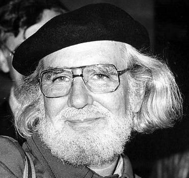 Ernesto Cardenal (1925) is a Nicaraguan Catholic priest, poet and politician. He is a liberation theologian and the founder of the primitivist art community in the Solentiname Islands, where he lived for more than ten years (1965–1977). A member of the Nicaraguan Sandinistas, a party he has since left, he was Nicaragua's minister of culture from 1979 to 1987.