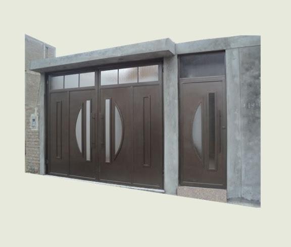 Puerta y porton de dos hojas puertas pinterest - Puertas de casa ...