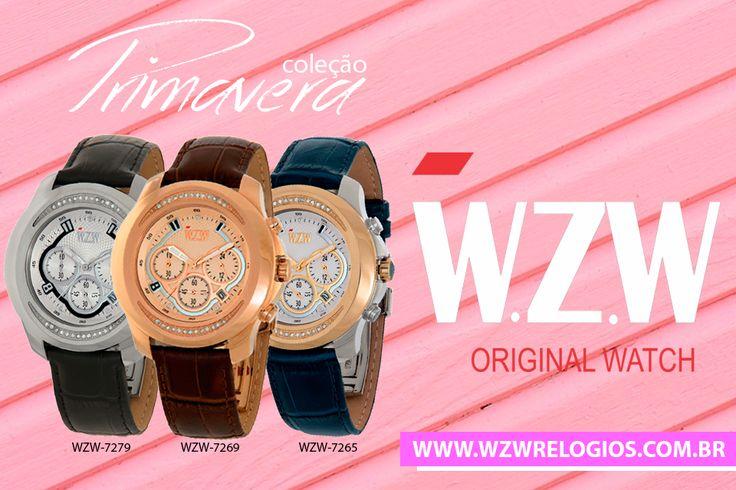 Além de funcionais os relógios W.Z.W possuem um design alemão arrojado que certamente engrandecem o pulso de quem o usar. Os relógios femininos da W.Z.W são um sucesso, a linha de relógios femininos são perfeitos para as mulheres que buscam por um produto que além de funcional irá lhe surpreender pelo seu custo-benefício. Pois é mais do que um relógio, mas sim um acessório que complementa o seu look para qualquer ocasião.  www.wzwrelogios.com.br/linha-primavera