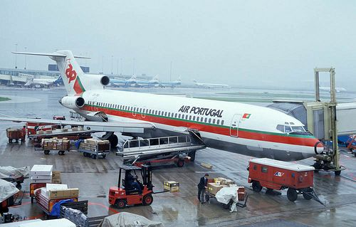 Vintage Boeing 727-200 of TAP Air Portugal (now simply TAP Airlines)