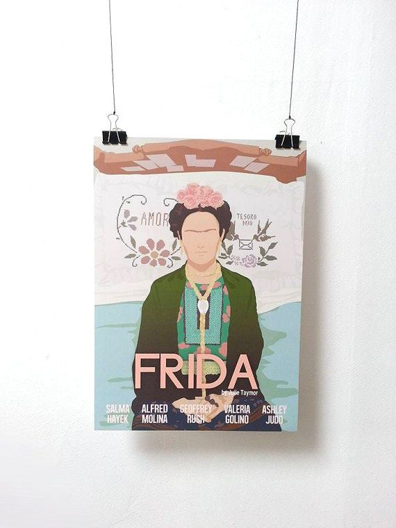 This is a Frida movie inspired print. A3 size is 29.7x42cm or 11.69x16.53 inches. A3 prints : 250mg matte paper ready to be shipped. Offset