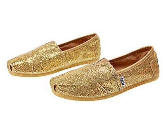 Cheap Toms Glitter Shoes Sale For Women in Gold : toms outlet, your description $17