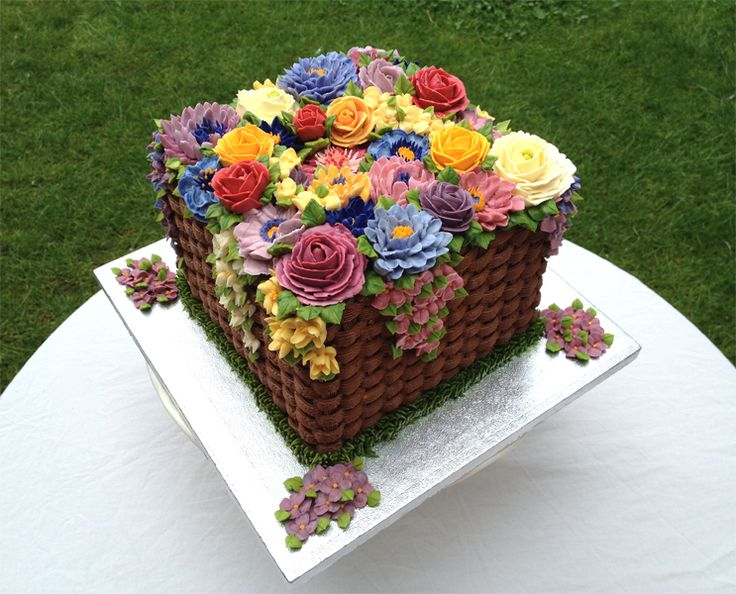 Flower Basket Cakes Images