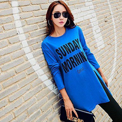 Amazon | ( マゴット ) Maggot ロング Tシャツ レディース 長袖 ゆったり ルーズタイプ スリット 3カラー 4サイズ 通販