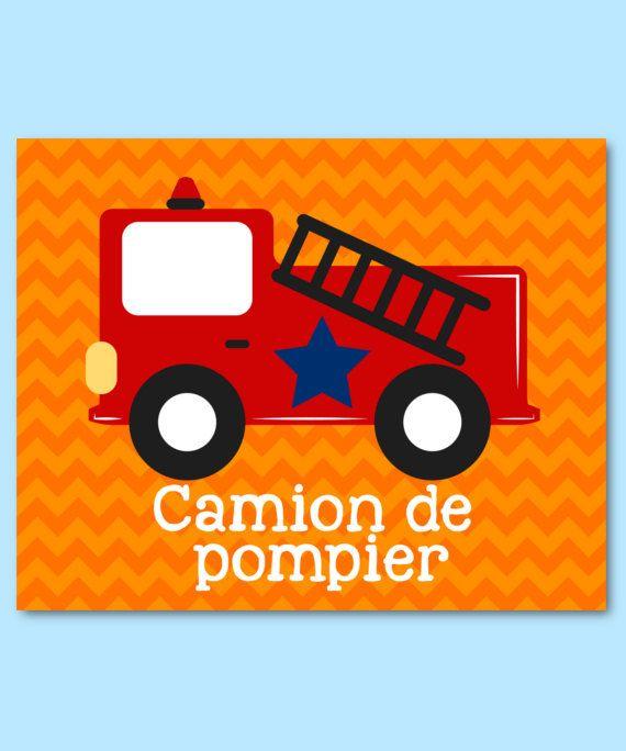 Les 25 meilleures id es de la cat gorie camion de pompier - Chambre enfant pompier ...