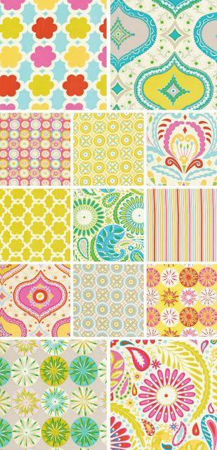 117 best images about pattern fantasy vintage and modern for Dena designs fabric kumari garden