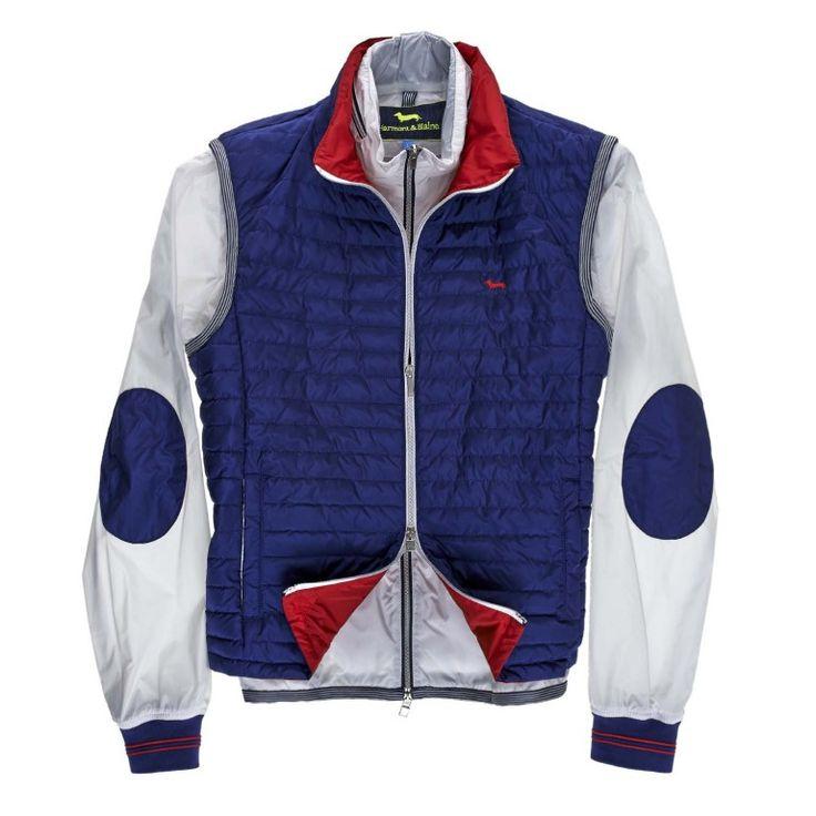 Double jacket blue white harmont blaine online store for Blaine storage