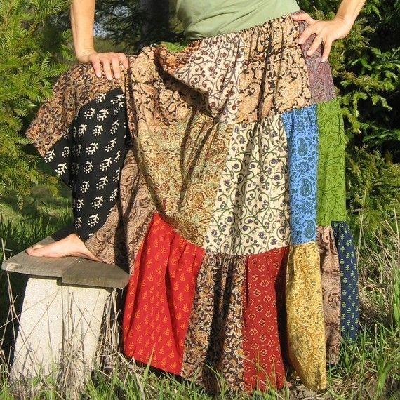 Patchwork skirt  #skirt #long skirt