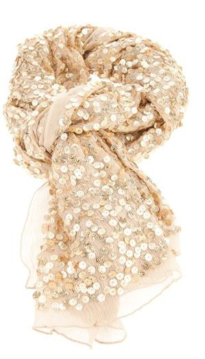 Neutral + Sparkle. Good way to dress up anything