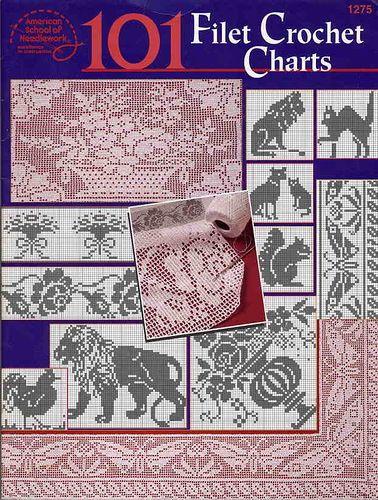Книга: 101 Filet Crochet Charts (филейное вязание ) - Вяжем сети, спицы и крючок - ТВОРЧЕСТВО РУК - Каталог статей - ЛИНИИ ЖИЗНИ