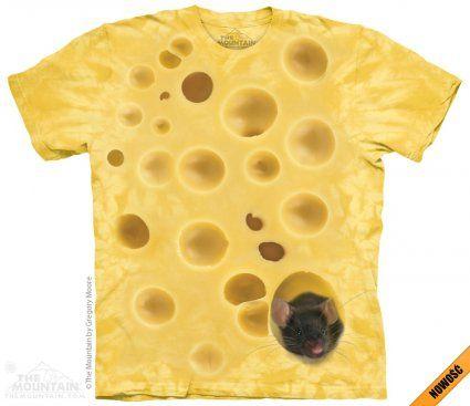 Swiss Cheese Mouse - The Mountain - koszulka z żółtym serem - sklep internetowy www.veoveo.pl