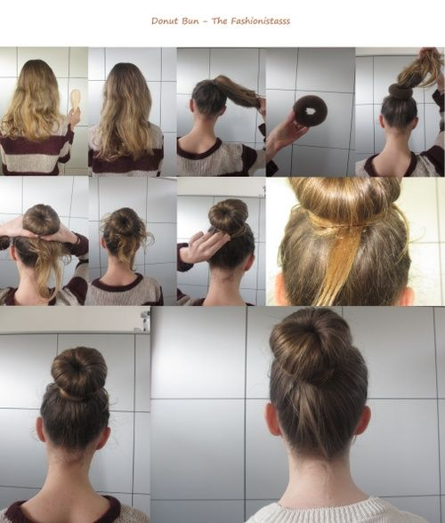 Hair bun tutorial- I'm forever trying to figure out how to do this!!