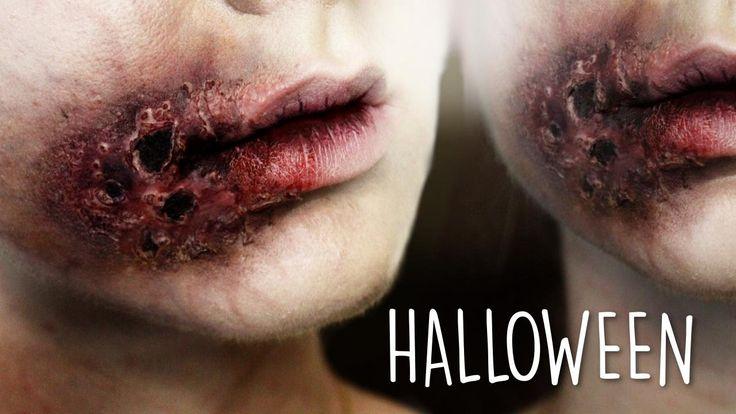 ◆ Gnijące usta ZOMBIE makijaż na Halloween ◆