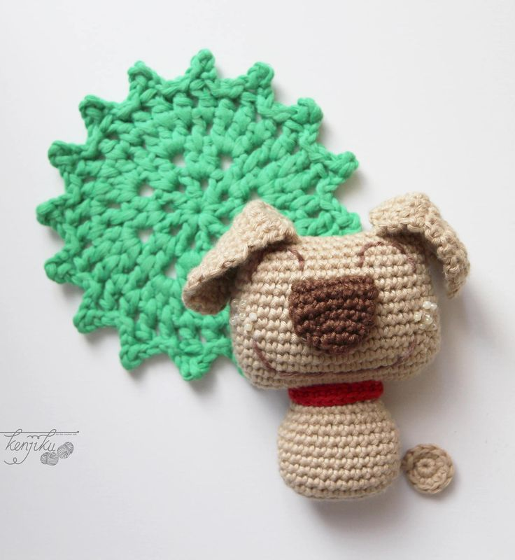Big Nose Puppy Amigurumi Pattern DIY by KenjikuMade on Etsy