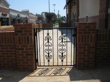 Custom Iron Gates By Appalachianironworks Restaurant Patio Gate Decorative  Gate