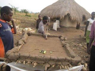 Zimbabwe bush African's play pool