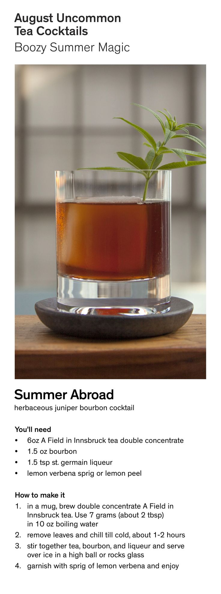 Make the Summer Abroad - an August Uncommon Tea Cocktail.