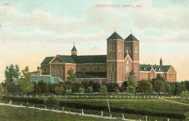 Conception Abbey postcard from 1908 - Conception Abbey - Wikipedia, the free encyclopedia