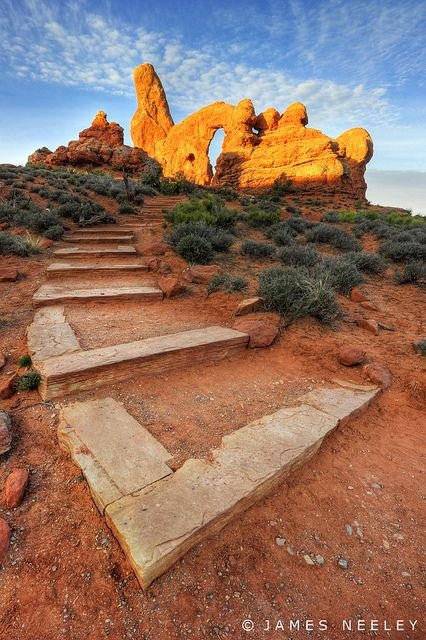 ~ Ascent to Turret Arch ~ Arches National Park, Utah....