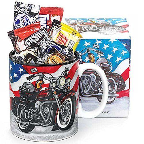 Candy Filled Motorcycle Mug