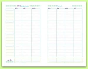 Free Printable Half-Size Weekly Family Schedule/Planner | ScatteredSquirrel.com