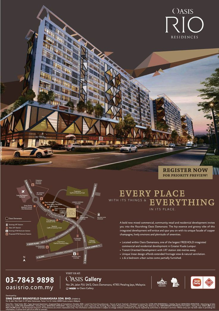 Oasis Rio Residences Apartment by Sime Darby flyer