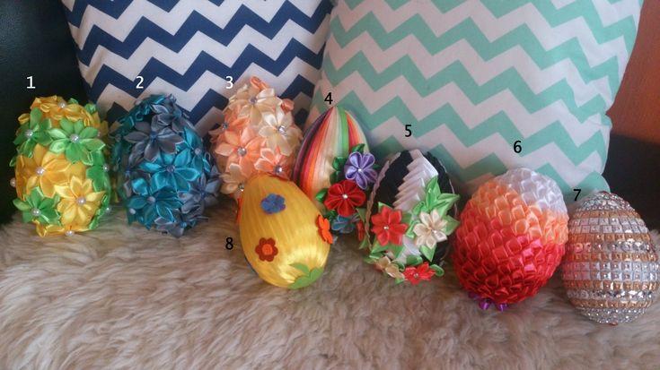 Egg, Spring decor, ribbon, DIY, hand made