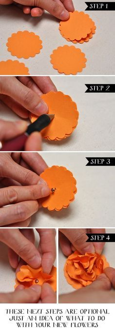 Easy DIY Paper Flowers Stampin Up Punch Art