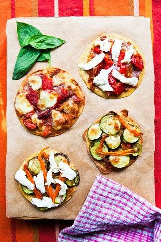 Socca (chickpea) pizzas #eatingwell