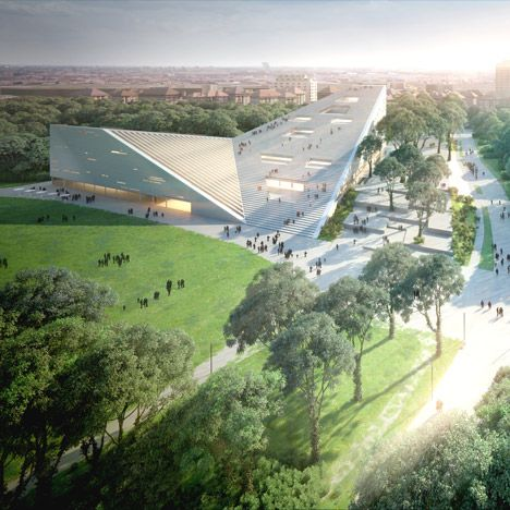 Snøhetta and SANAA have been awarded joint first place in a competition to design one of five new museums planned for Budapest's City Park