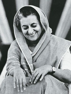 "Indira Gandhi. ""Even if I died in the service of the nation, I would be proud of it. Every drop of my blood... will contribute to the growth of this nation and to make it strong and dynamic."""