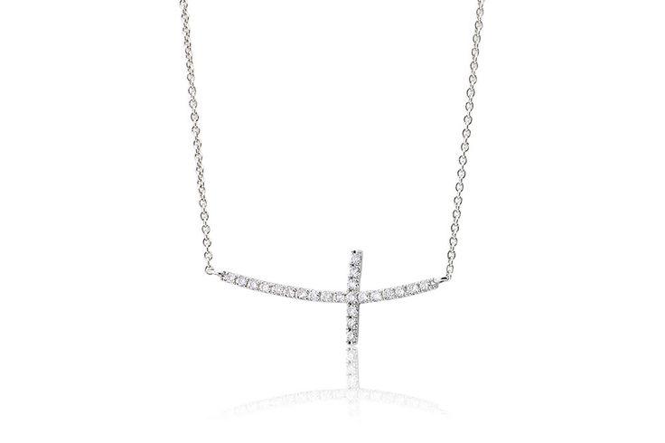 Κολιέ με διαμάντια μπριγιάν κοπής 0,18CT από λευκόχρυσο 18Κ.  Necklace with brilliant cut diamonds 0,18CT made by 18K white gold. Price : 450 €