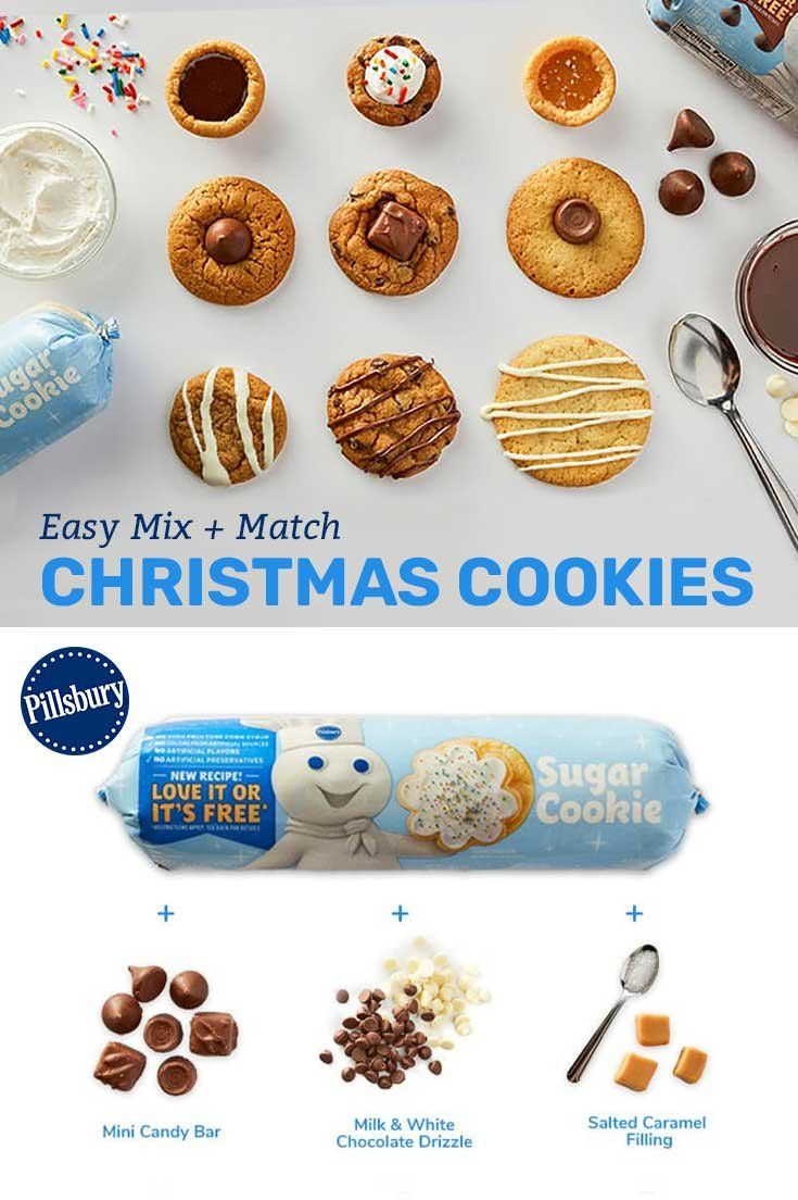 9 Easy Mix Match Christmas Cookies Christmas Cookie Recipes