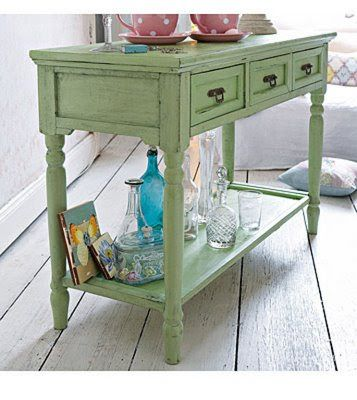 shabby chic mint green sideboard table loveliness pint. Black Bedroom Furniture Sets. Home Design Ideas