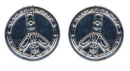 Silver Earrings - Peace by Terry Starr