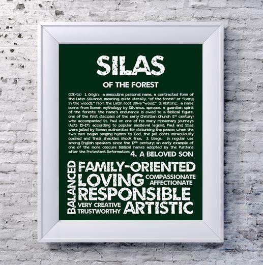 SILAS gepersonaliseerde naam Print / typografie Print /