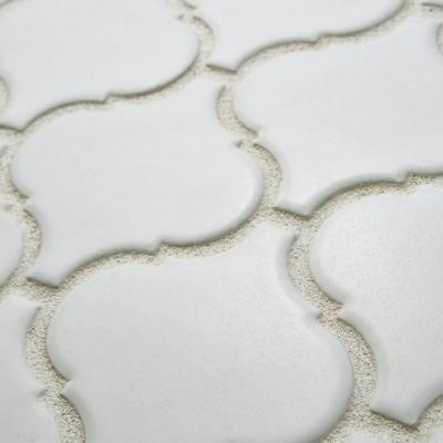 Merola Tile Metro Lantern Matte White 9-3/4 in. x 10-1/4 in. x 6 mm Porcelain Mosaic Tile-FDXMLMW - The Home Depot