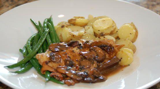 Chicken Marsala Recipe served at Swan and Dolphin Resort at Disney World