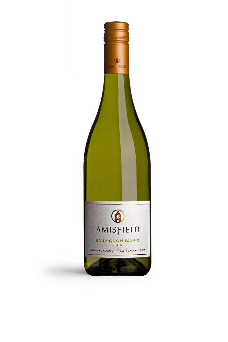 Amisfield Sauvignon Blanc 2016 - Uniquely Central Otago.  Bright, vibrant, fresh aromatics of lychee & passionfruit with a pink grapefruit mineral finish.
