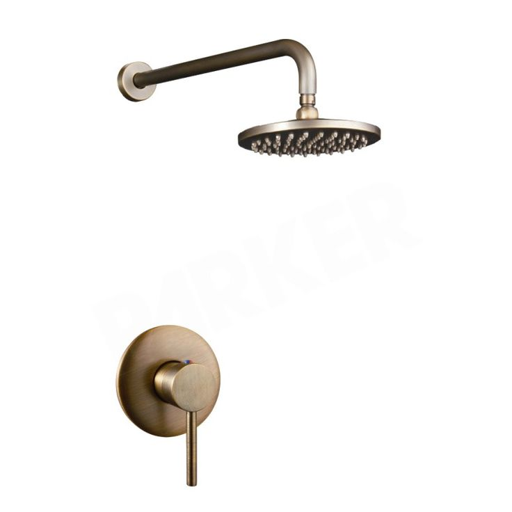 Brewst Rain Showerhead Only Shower Mixer Set in Antique Brass - Shower Sets - Showers - Taps